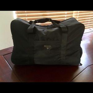 d11741dbb02c Prada Black Nylon Weekend Duffle Travel Bag